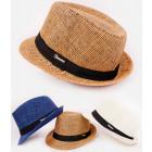 B10A76 Summer Beach Hat with Ribbon, Panama