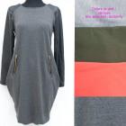 Pulóver ruha, cipzár és latex, UNI, 5250