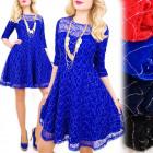 BI639 Flared, Lace Dress, Colors