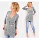 D1466 Feminine Cardigan with Embroidery, Merry Rab