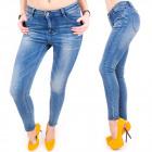 B16620 Lovely Women Jeans, maigre, beau bleu