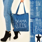 T35 Shoper Bag, Super Bag Navy Jeans, Prints