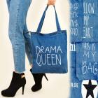 Sac T35 Shoper, super sac bleu marine, imprimés