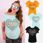 K617 Cotton Women Shirt Plus Size, Love Paris