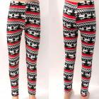 Warm Children's Leggings, Reindeer, 90-140, 49