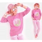 A809 Damen Sport Sweatshirt, Kalifornien 68 Druck