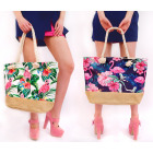 T58 Large Women Bag, Pink Flamingos, Shopper