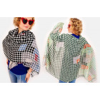 A1242 Free scarf, scarves, Polka Dots Pattern
