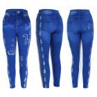 Damen Jeans Leggings, Patches Print, UNI, 5890