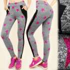 FL486 Sport Leggings, Slimming Star Line
