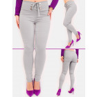 C17532 Laced Women Pants with High Waist, Chic