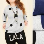 C11381 Trendy Bluse, Tunika, Punkte, große Größen