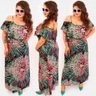C17701 Women Maxi Dress, Mega Ruffle, Straps