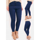 R53 Classic Women Jeans, High Waist, Pants, Blue