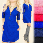 BI606 Sexy, Lace Dress, Tunic with Slider,Fit Line