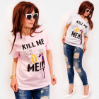 C11545 Damen Shirt, Perlen und Bänder, Love Me