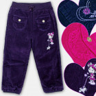 A19183 Pantaloni per bambina isolati, Velluto a co