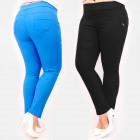 C17646 Women Pants, Plus Size, Decoration, Colors