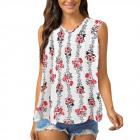 Women Blouse, Summer Top, Flowers L-4XL, 6612