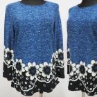 Bluse, Größe M-3XL, Warm, Muster, K2710