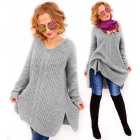 PL5 Long Woolen sweater with braid, tunic