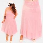 C17684 Women Airy Dress, Long Skirt 2 in 1
