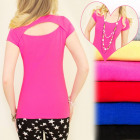 D2616 UROCZY TOP, BLOUSE, VERY EFFECTIVE BACK