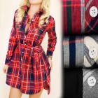 BI528 Loose Tunic, Dress, Shirt Style, Lattice