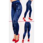 SOF42 Coton Leggings Jeans avec impression voyante