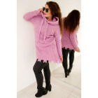 PL14 Long Hooded Sweater, Pulled, Lilac