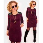 A1007 Pencil Dress with Golden Sliders, Latex