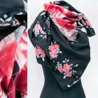 Winter Shawl, Scarf with Roses Pattern A12108