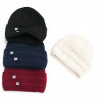 Warm Women Cap, Hat, 2 layers, Braids, 5094