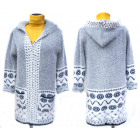 Fluffy Christmas Cardigan With Hood, M-2XL, 5136