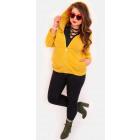 EM02 Women Hoodie Oversize, Mustard Color