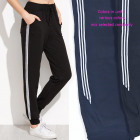 Women's sports pants, stripes, M - 4XL, 5712