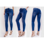 B16719 Shaded Women Pants, Jeans, Holes, Tubes