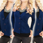 C17230 Classic sweater, jacket, large buttons