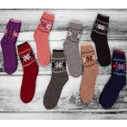 SOF14 Womens Warm Socks, Wool, Snowflakes, 35-38