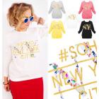 A865 Sweat-shirt pour femme, or Impression: Soho N