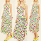 K424 SUMMER LONG DRESS, COLOR STARS AND DOTS