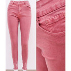 B16771 Women Pants Jeans, Frayed, Watermelon