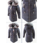 E19 Winter Women Jacket, Pendants, Navy Blue