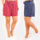 C17603 Abnehmen Damen Shorts, Loose Fit, Gürtel