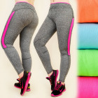 FL436 LEGGINGS, FITNESS PANTS, NEON INSERTS