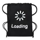 4811 Large Backpack, Canvas Bag, Loading, Black