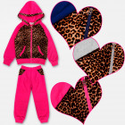 A19127 Sporty Tracksuit For Girls, Gym Set, 4-12