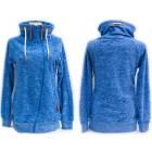 Women sporty sweatshirt, diagonal zipper, 5214