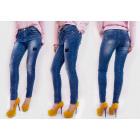 B16715 Jeans ombrés pour femmes, pantalon avec un