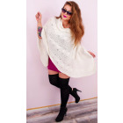 A8107 Women Poncho, Oversize Sweater, Plus Size